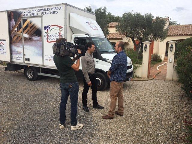 TF1 chez Languedoc Isolation