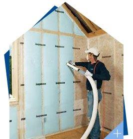 Isoler un mur par insufflation de fibre de bois